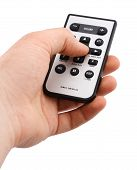 pic of controller  - remote controller in hand on white background - JPG