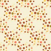 pic of dot pattern  - Beige and brown colors dotted seamless pattern - JPG
