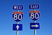 Interstate 80 Road Signs