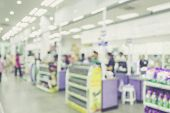 pic of cashiers  - Supermarket store blur background Cashier counter with customer Vintage filter effect - JPG