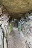 pic of anglesey  - Interior of Bryn Celli Ddu Anglesey is one of the finest prehistoric passage tombs in Wales United Kingdom - JPG
