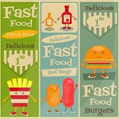 picture of fanny  - Fast Food Menu Set - JPG