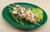 image of cuttlefish  - Grilled cuttlefish bbq with rosemary and pepper - JPG