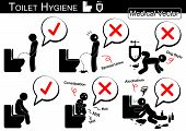 picture of defecate  - Toilet Hygiene  - JPG