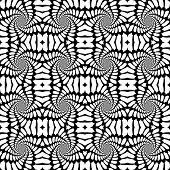 stock photo of distort  - Design seamless monochrome abstract background - JPG