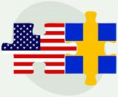 pic of sweden flag  - Vector Image  - JPG