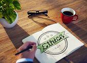 image of ethics  - Businessman Writing the Word  - JPG