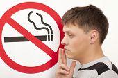 foto of smoking  - Man - JPG