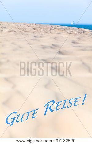 goodbye view to the sea horizon gute reise german bon voyage