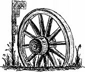 picture of wagon wheel  - vector  - JPG