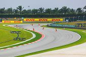 Sepang, Malaysia - April 9: Marshals Clean Track For Qualification Of Formula 1 Gp, April 9 2011, Se