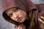 Girl in a hoodie