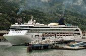 Cruise Ship In Skagway, Alaska Harbor