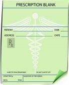 Blank prescription form