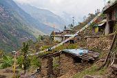 Village in Langtang, Nepal