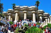 BARCELONA, SPAIN - MARCH 19: The famous Park Guell on March 19, 2011 in Barcelona, Spain. The famous