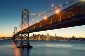 Bay Bridge, San Francisco Skyline, Downtown San Francisco, California, Usa poster