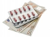Euro Banknote And Pills