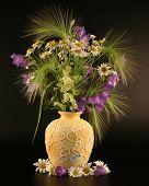 Bouquet Of Yellow Field Flowers.