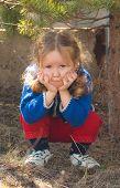 Kleine meisje Sad Face
