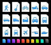 Transportation Icon on Document Icon Collection Original Illustration