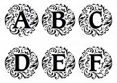Alphabet Ornament Design A To F