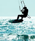 Kitesurfing arial