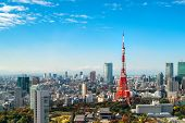 Tokyo Tower, Japan -  Tokyo City Skyline And Cityscape poster