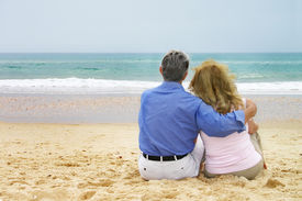 image of older men  - mature couple in a romantic moment - JPG