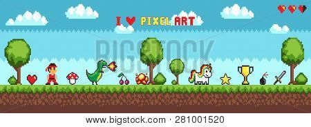 Pixel Art Style Character In