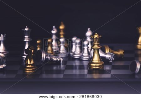 Chess Pieces Knights Facing Each