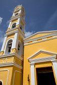 beautiful church of Xcaret in yucatan, mexico