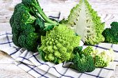 Romanesco Broccoli Close Up. The Fractal Vegetable Is Known For Its Connection To The Fibonacci Seq poster