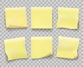 Yellow Memo Reminder Papers. Paper Sticky Note Pieces Isolated On Transparent, Office Yellow Noticeb poster