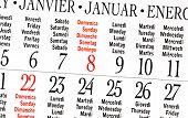 Calendar Of January 2012