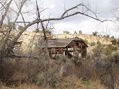 picture of hughes  - old barn on mountain road - JPG