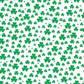 St Patrick S Day Clover Seamless Pattern. Vector Illustration For Lucky Spring Design With Shamrock. poster