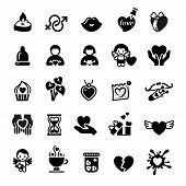 set Valentine's Day Icons, Love Romantic Sign