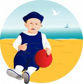 Toddler On Sand