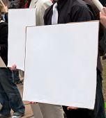 Protest Sign, Blank