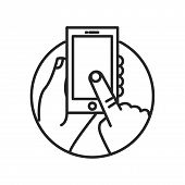 Smartphone Vector Icon On White Background. Smartphone Icon In Modern Design Style. Smartphone Vecto poster