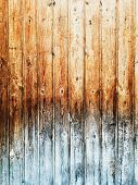 Vintage Wood plank brown texture background  poster