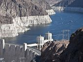 Hoover Dam and Lake Mead in Southern Nevada.