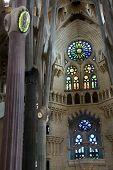 Interior Of The Sagrada Familia Cathedral