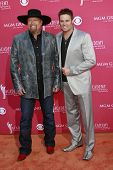 LAS VEGAS - APRIL 5: Eddie Montgomery; Troy Gentry at the 44th annual Academy Of Country Music Awards held at the MGM Grand on April 5, 2009 in Las Vegas, Nevada