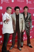LAS VEGAS - APRIL 5: Gary LeVox, Jay DeMarcus and Joe Don Rooney of Rascal Flatts at the 44th annual