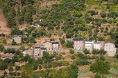Ancient mountain village made of schist at Arganil, in the center of Portugal