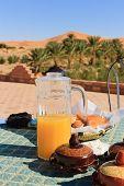 Breakfast in the Desert on the roof