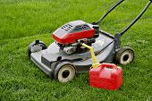 Lawn Mower And Gasoline Tank
