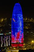 Agbar Tower, Building Located In Barcelona